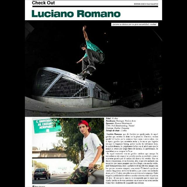 Tremendo chek out de Lucho Romano para la revista Buenos Muchachos, con un krookedgrind en subida, realmente muy dificil ese spot!  Te felicitamos lucho por tu primer aparicion en una revista!!! #ufit  #ufitargentina  #luchoromano  #krooked #grind...