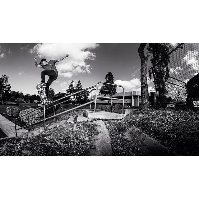 @nyjah, Gap to noseblunt. Photo: @blabacphoto #NyjahHuston #DCShoes