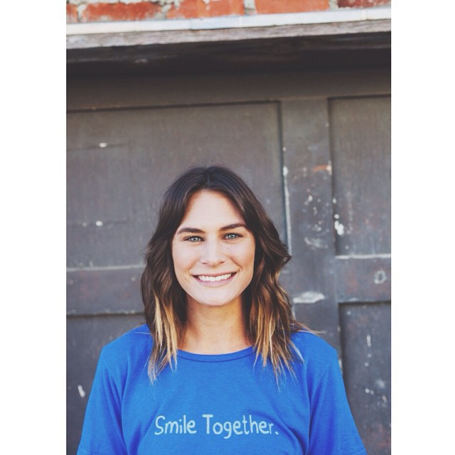 """The greatest self is a peaceful smile, that always sees the world smiling back."" -Bryant H. McGill ------------------------------------------------- New women's Smile Together tee available in our online shop. Made in California from a blend of..."