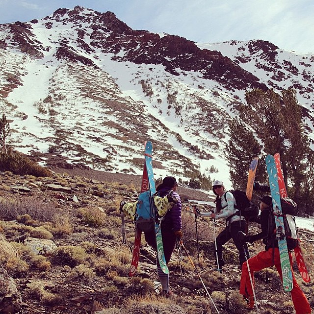 @coalitionsnow took to the Eastern Sierras in search of winter this past weekend; it's #smart, #strong, #adventurous, #badass women like these that make #coalition as rad as it is. Thanks for the photo @nosnowsnakes