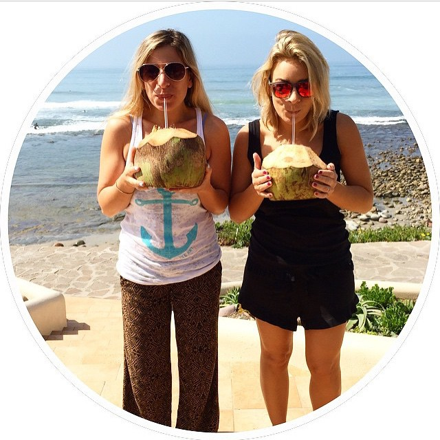 Our beautiful friends @amaron and @thelalook of @thehautehunt sending big coconut love from Las Gaviotas, Mexico! Loving our new tribal anchor tank!