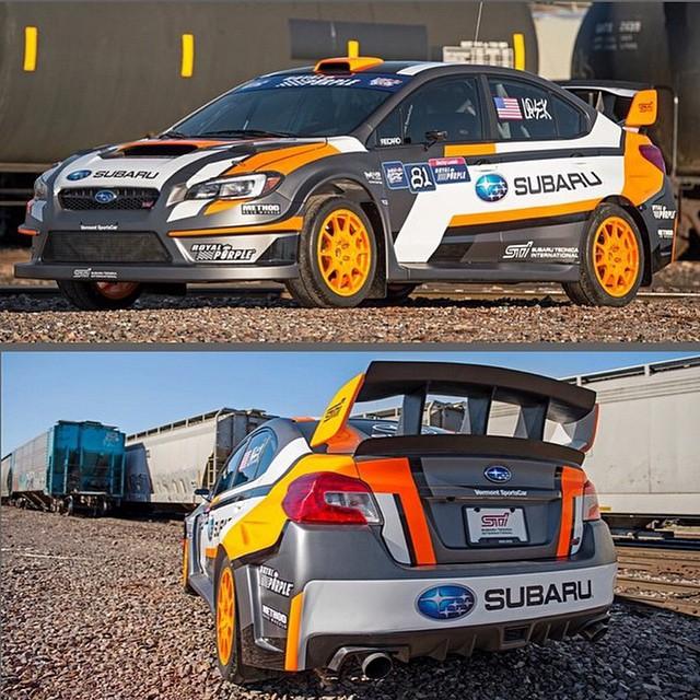 ICYMI: Subaru unveiled @buckylasek's 2015 RallyCross car yesterday. • AWD • 580 HP • 2.0L turbo • 0-60 in two seconds