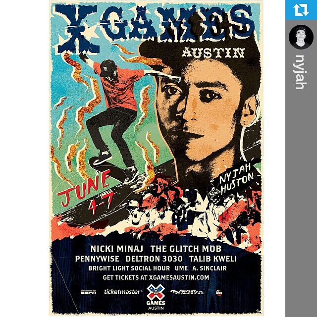 #Repost @nyjah ・・・ #XGames Austin is only 64 days away! Come kick it with me at Circuit of the Americas June 4-7 XGames.com/Tickets