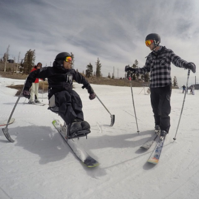 March -- in like a lion, out like a lamb! #SquawValley #FoolsDay with #HighFivesAthlete @grantkorgan #ChoosePositivityNow #GoPro