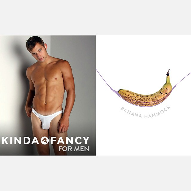 Introducing Kinda Fancy men's line, due to popular demand.  We designed this supportive banana hammock just for men.  Okay, maybe it's for the ladies too