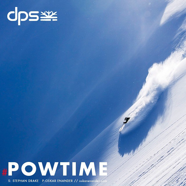 DPS' Stephan Drake on Lotus 138s. #Powtime ends today. Visit dpsskis.com to learn more on how to nab special incentives on Pure3 skis… Photo: @oskar_enander.