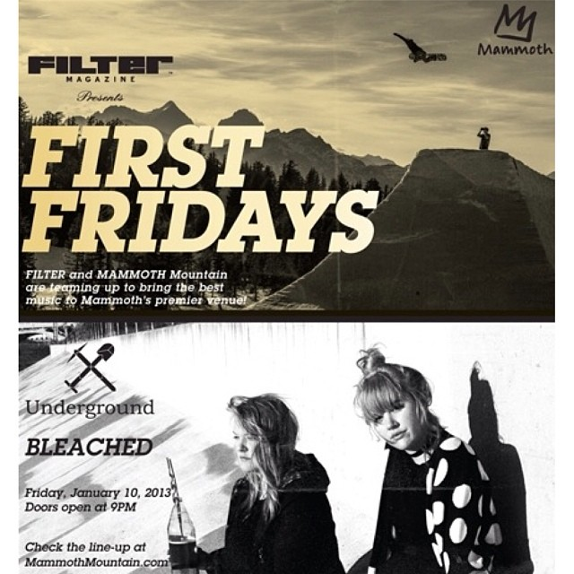 We ❤ music for a cause! We are SO excited to be announcing that we are going to be the beneficiary of monthly @FILTERmagazine x B4BC First Fridays at @UndergroundMammoth at @MammothMountain!! THIS FRIDAY we'll be up there rocking out to @hellobleached,...