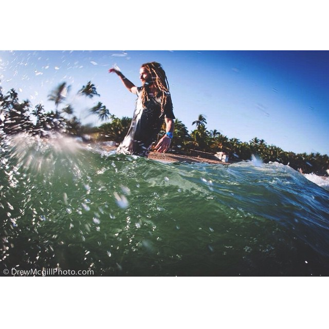 Slip sliding into April. Tribe Ambassador @to_the_sea8 uniting with the Oceans in our Be Kind to the Sea tee. -------------------------------------------------