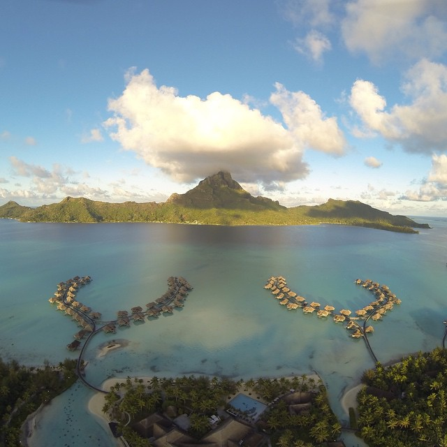 Grab that mountain! The Bora Bora island crab have been known to eat mountains by the pincer full… Another example of capturing a shot from a unique angle.  Credit: Jose Barbeiro  #DJI #phantom #DJIStory #DJICreator