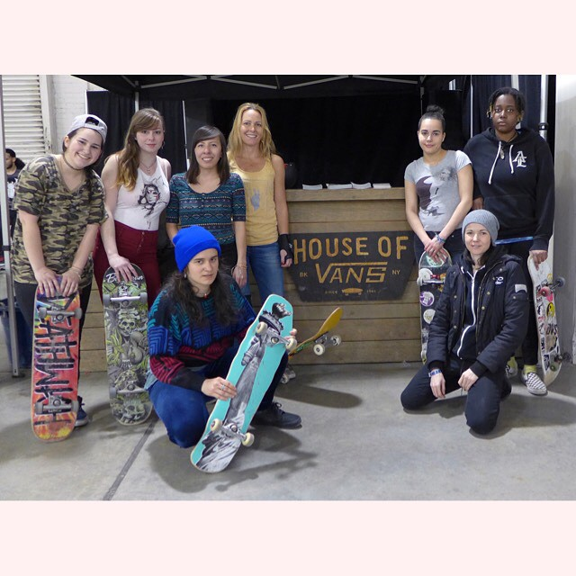 Thanks #houseofvans for always supporting the ladies!! #ridetrue #groNYC