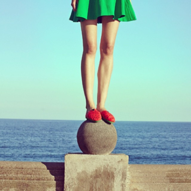 Dare to jump #Paez #paezshoes #sandia #watermelon #shoeoftheday #summer