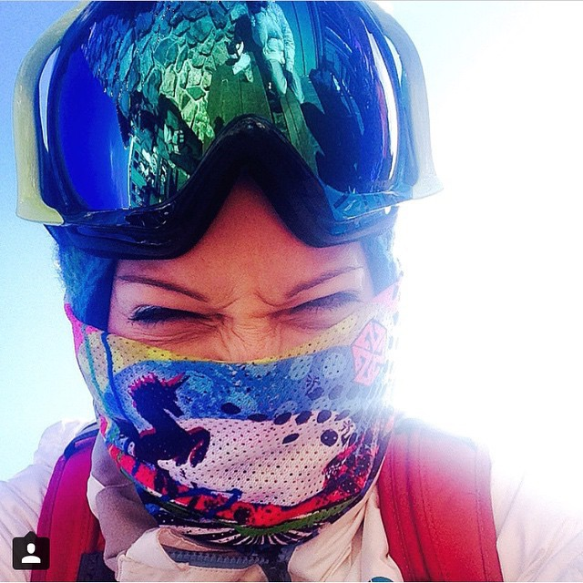 Spring has sprung!  Adventurer @valoki rocks one of our super breathable mesh bandarils designed by @lynseydyer at Keystone to keep the sun from scorching. Tag #avalon7 in your shred photos and we will share them here.