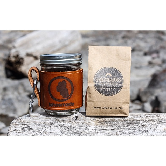 Yep. It's a GIVEAWAY. In the name of caffeine, @tahoemade is giving away their leather mason jar holder and a very fresh 'roasted to order' bag of coffee from the amigos at @bedfellowsroasting in SF. Enter to win by:  1. Follow @bedfellowsroasting. 2....