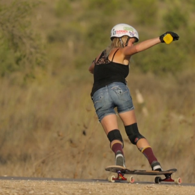 #lgcopen rider @amandapowellskate backside in #Israel. The waiting for the full movie is getting shorter, stay tuned! @skateriviera @paristruckco @divinewheelco @gformprotects @daddiesboardshop #styleandgrace #niceshorts