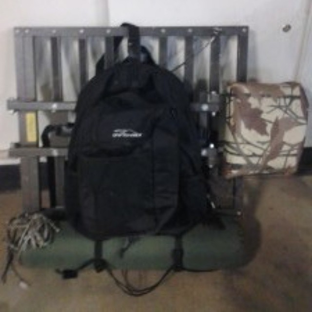 The Tahoe Backpack & Cooler used as  a tree stand pack.  Our back compartment is not only great for chairs, but tree stands as well!  Thanks for the photo BeatTheEnd! #hunting #treestands #thetahoe #thewoods #outdoors #graniterocx