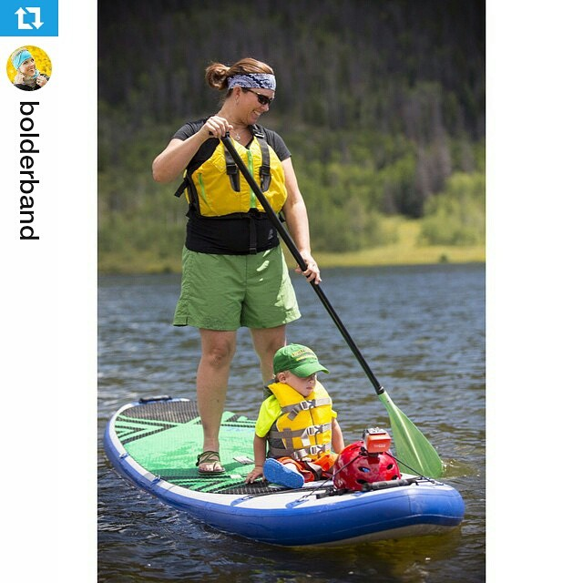 #Repost from @bolderband ・・・ Lisa and Riley enjoying a little mother son SUP time:) #bolderband #bolderbands  #fashion #boutique #style #instastyle #musthave #cute #love #sup #halagear #Colorado #Steamboat #standuppaddleboard #adventure #mom...