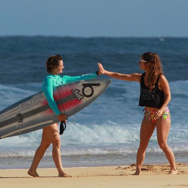 What @biancavalenti said - High 5! It's almost the weekend! #surf #hawaii #weekendwarriors