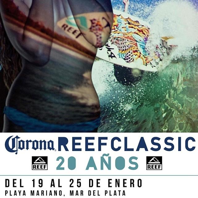 El cásico de los clásicos! Se viene la edición 20 del evento del verano, seguilos por nuestras redes! #ReefClassic14#reefargentina