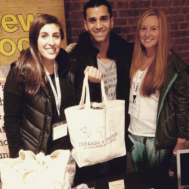 It's a T4T sandwich with our tote bag raffle winner at last night's @BodyLocal event! #fitness #healthy #sustainable #lifestyle #style #nyc #events