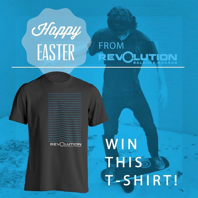 It's time for a #revbalance #easter #GiveAway  Calling all #riders of all #boardsports here's your chance to #win a #revolutionbalanceboard #tshirt in the Easter #tshirtgiveaway of 2015 Rules are: 1. Follow revbalance on I 2. Tag 3 friends 3. Be awesome