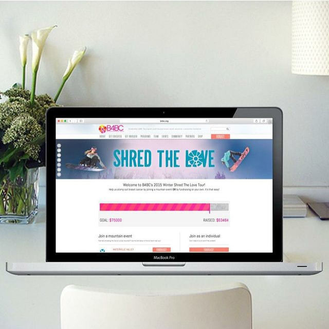B4BC's Shred The Love winter series is coming to an end this weekend with our last event happening in Lake Tahoe. We are SO CLOSE to reaching our fundraising goal, with over $63K raised and counting! We want to send a HUGE thank you to our web design...