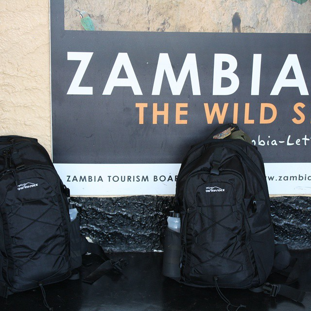 The Tahoe in Zambia Africa!  Our packs are great for travel! #travel #zambia #africa #thetahoe #backpacks #coolers #graniterocx