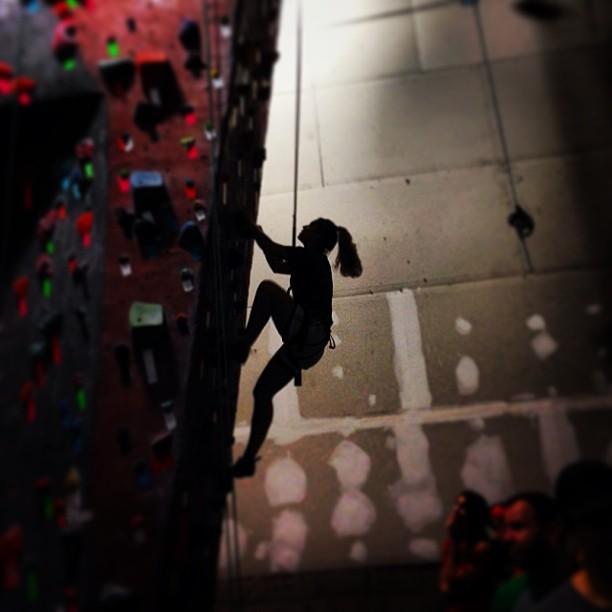 @kerees5 killing it at #brooklynboulders Friday night. #shejumps #gtgo #climbing #NYC @abanfich1