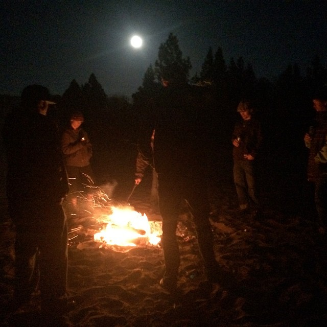 Hanging on the beach with the radiant full moon. Lake Tahoe may get some snow this weekend! Let's cross our fingers. @oakleysnowboarding @dakine @kirkwoodmtn @stcrossfit #liveepic @epicbar @neversummerindustries