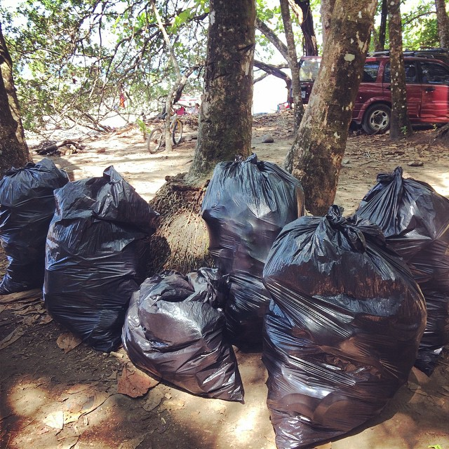 "Over 40 people, both community members and visitors, showed up to help clean the beach and distribute ""I don't litter"" stickers. Thank you everyone! That's 6 huge bags of trash that won't be getting washed into the ocean during the next rainfall, and..."