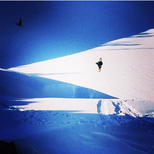 Team rider Jonny Sischo (@winterislove) has snowboard legends take his picture...hope you don't mind we used your photo @joshdirksen...muchos gracias!