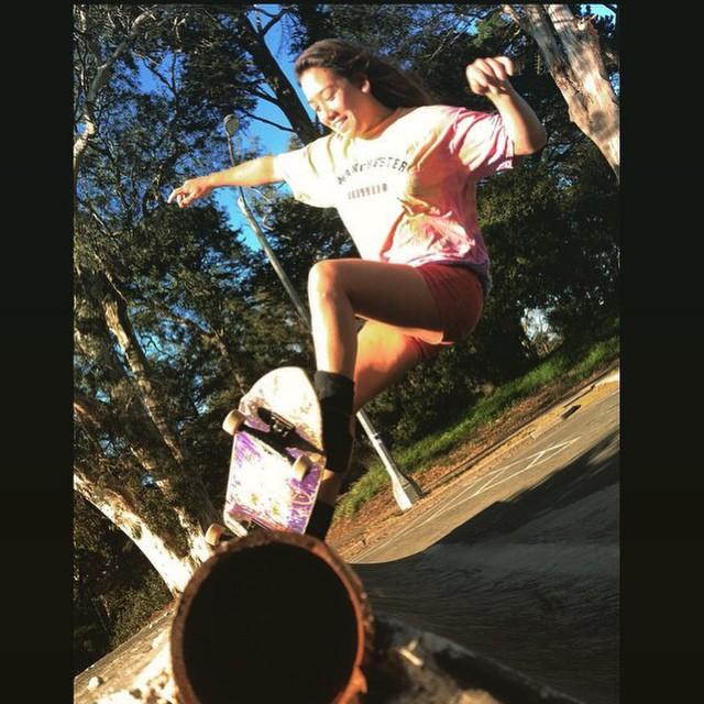 Team rider Yvonne Byers--@yvonzing at Waller St. skatepark!  PC: @bigdave_hsf  #yvonnebyers #bonzing #sanfrancisco