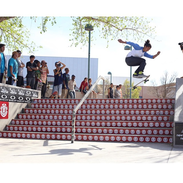 The first zone of today's #elementmakeitcount in Albuquerque, New Mexico is going off! It's always rad to see the ladies shredding, like @mariahdurandoe laying down this proper hard flip! @elementmakeitcount