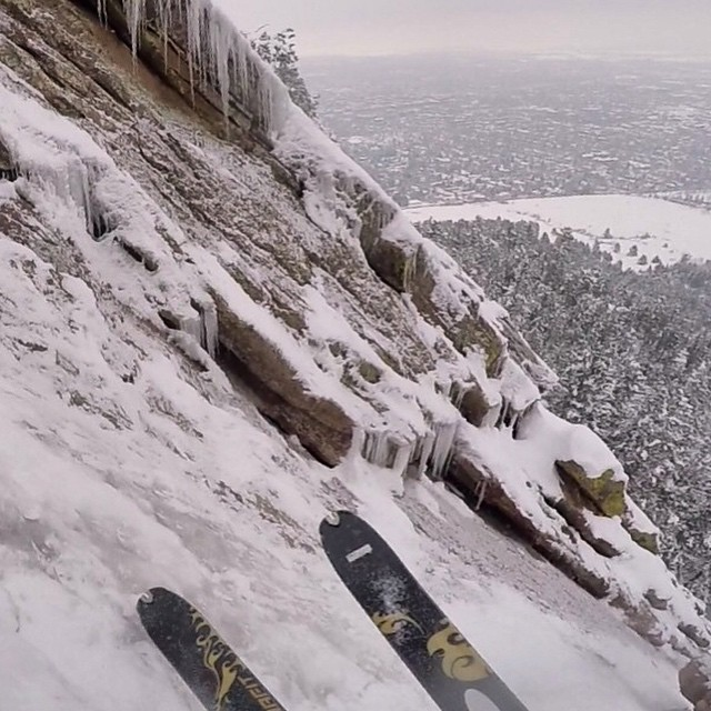 @aporzak1 conquers the First Flatiron in Boulder, Colorado. Read his story at experience.forsake.com