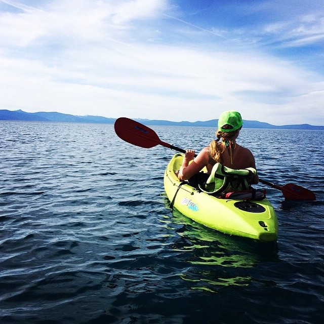 Alright week, let's do this! Our monday muse is @ayeboulet ❤️ #getoutthere #getoutside #laketahoe #kayaking #miolagirls #miolainaction