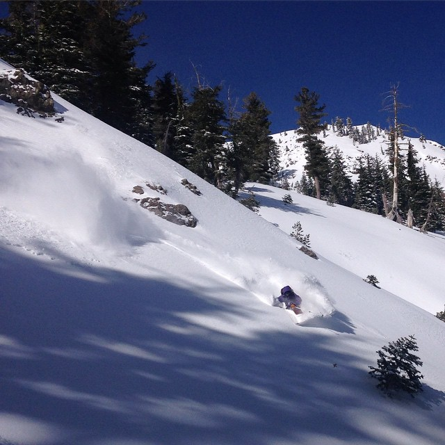 @flylowgreg getting pitted this morning in Tahoe... Yes, Tahoe.  We got first tracks on the local backcountry stash and are still just trying to find pow. @flylowdan  #embracethestorm