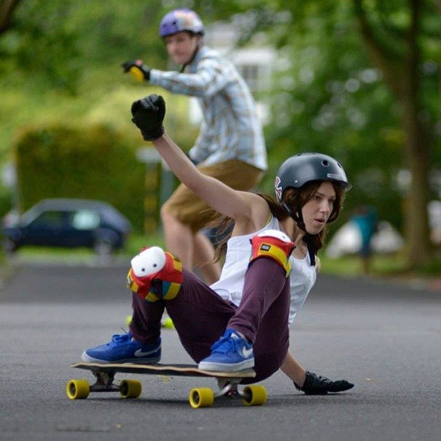 This is Andréa Katzeff @daililyfox from #SouthAfrica. Her story was posted yesterday in www.longboardgirlscrew.com on how she got over an awful accident at age 10 that left unrepairable consequences and went back to action sports. Get inspired, love...