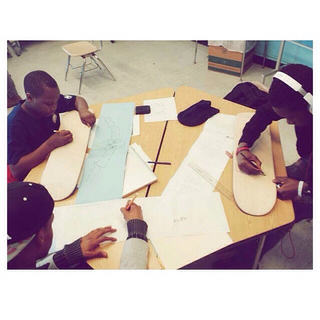 Thanks to @mckennaam for sharing this #stokedmoment of the skate design studio in effect! #bihs #stokedtoskate