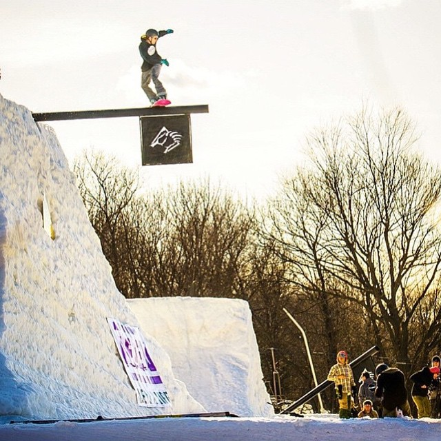 Regram: @jedipauls walks the plank @snowboardermag #SUPERPARK19