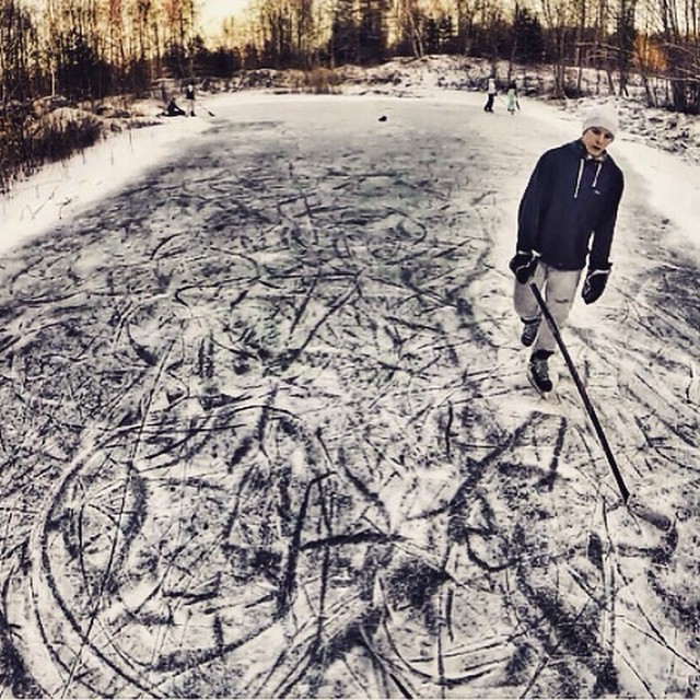 Photo of the Day! Backyard ice hockey, Latvian style. Photo by Kristens Krigers. #gopro #hockey Have a rad photo of your own? Click the link in our profile and share it with us!