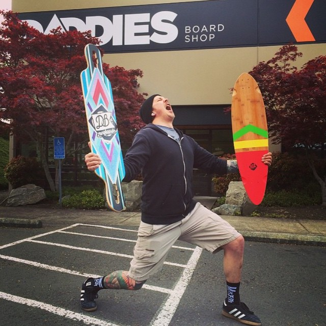 Our longboards are now available at @daddiesboardshop! Snag yours today at: DaddiesBoardShop.com