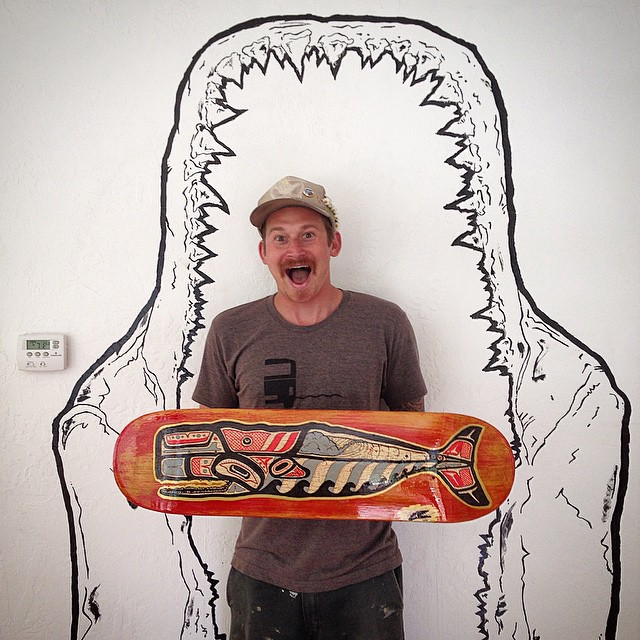 What's black & white and RAD all over? This Guy @gnarlytubes ! So come check out local artist -Walter Blair Tom - at tonight's DIY party with @Yerdle + @patagonia in SF's Mission District! Blair is part of our sustainable surf culture showcase tonight,...