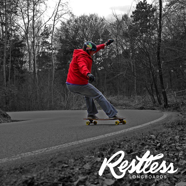 Team rider Lev with the switch heelside.  #restlesswim  #restlessboards