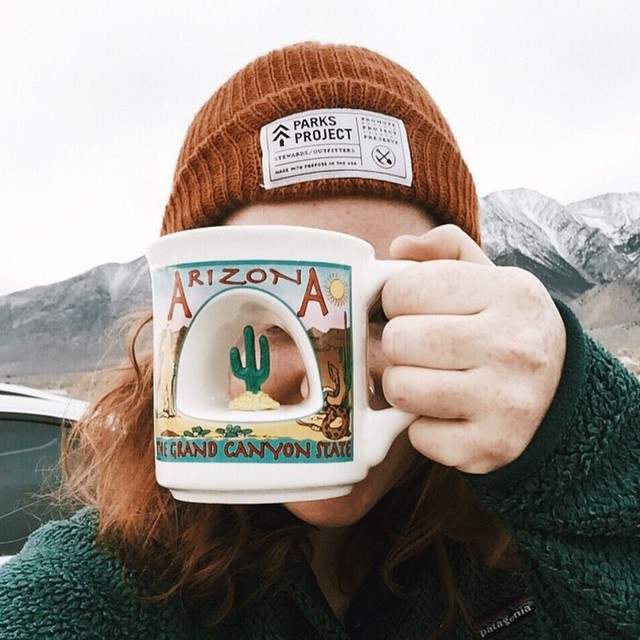 We prefer our morning coffee in the outdoors, like @jmeshe of @muglifeproject!  #radparks #parksproject