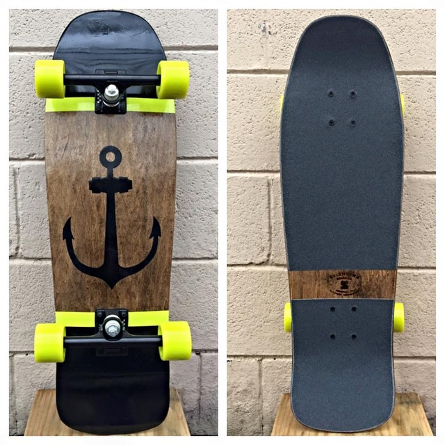 Anchor down. This beauty is one of a kind and up on the website now. #handmade #skateboards #handmadeskateboards #nashville