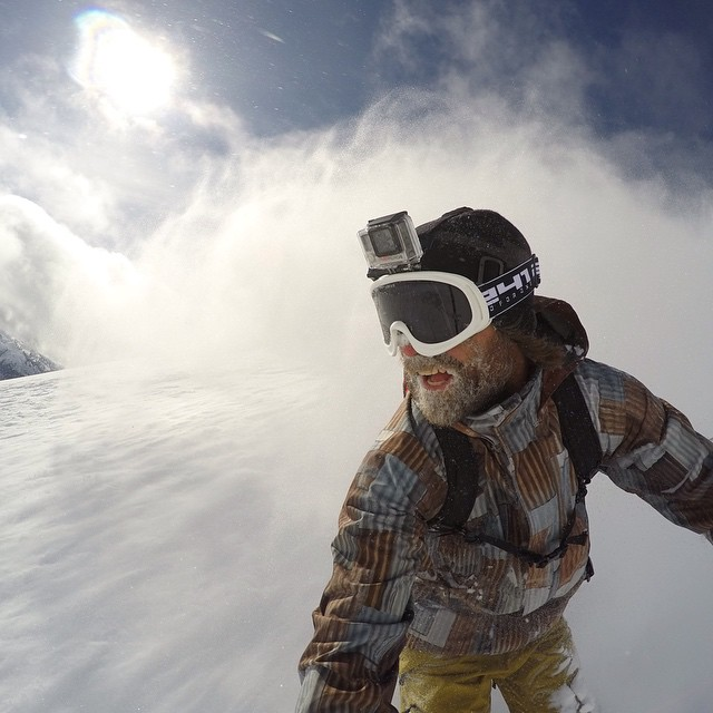 @MikeBasich crushing it with #CMHHeli at the GoPro Athlete Snow Camp in British Columbia! Shot on the HERO4 Black. #gopro #snowboard