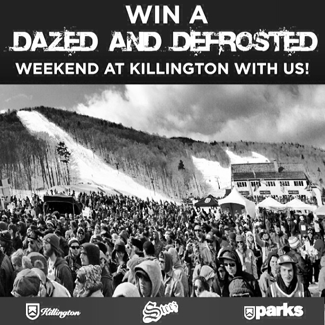 JUST LIKE THIS POST AND TAG THE 3 FRIENDS YOU'D BRING and you could win a trip for 4 to ride and stay with us all weekend for the @killingtonmtn DAZED AND DEFROSTED concert weekend April 18-19. We'll pick a random winner next week. You know it's 21+....