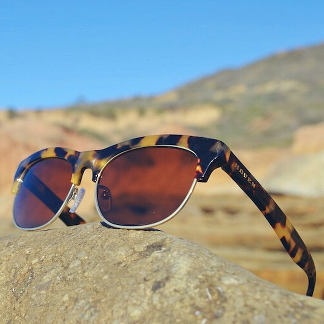 Aching for a new frame? Try the latest Hoven half-rim style for Spring. #hovenvision #neversettle #halfrim #beach #surf #sun #california #polarized #tortoiseshell #happyhumpday