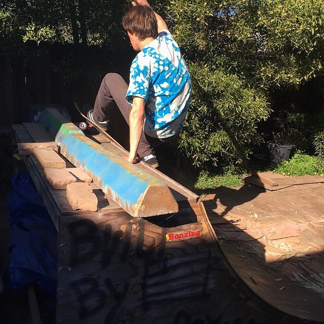 Team rider Chad Lybrand--@ragnars_world laying back on his backyard ramp!