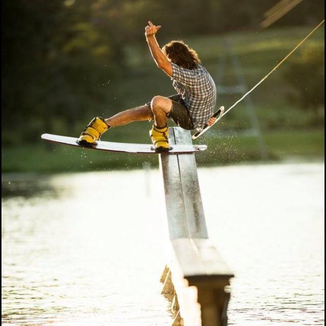 Board, shorts, n shirt - no problem!  #revbalance #findyourbalance #wakeboard #wakeboarding #wakeboarder #ridethewake #boarding #boardsports #lakelife
