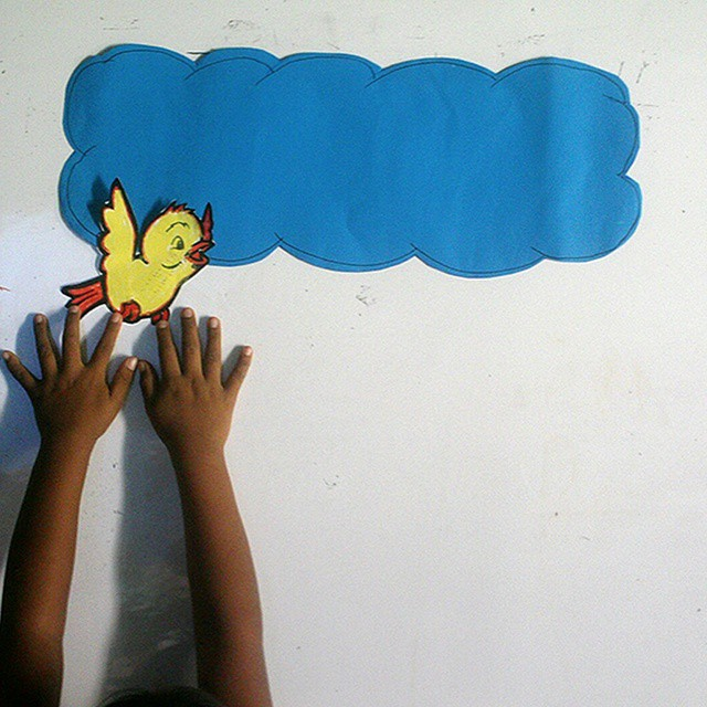 Reaching for the clouds over summer break - classes were a healthy and creative outlet for the young people of #Lobitos. #whereyourmoneygoes